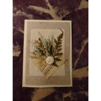 Carte fleurs séchées 16