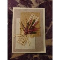 Carte fleurs séchées 18