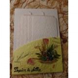Set courrier jaune fleurs séchées