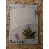 Set courrier blanc fleurs séchées