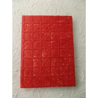 Grand bloc notes carreaux rouges