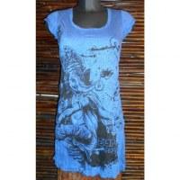 Mini robe Ganesh dansant bleu foncé
