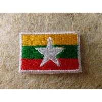 Mini écusson drapeau Birmanie ou Myanmar