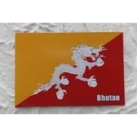Aimant drapeau Bhutan
