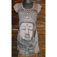 Mini robe marron Bouddha Angkor