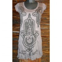 Mini robe marron khamsa