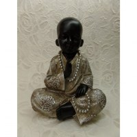 L'enfant moine noir/argent