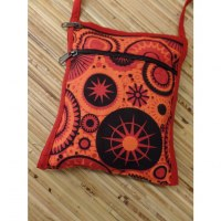 Sac passeport star orange
