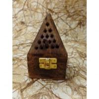 Boite pyramide porte encens