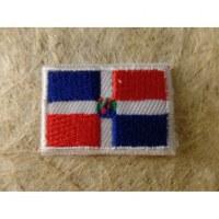 Mini écusson drapeau de la République Dominicaine