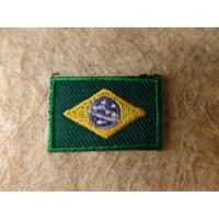 Mini écusson drapeau Brésil