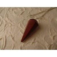 Pendule conique jaspe rouge