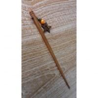 Baguette bois pour cheveux étoile bois de coco
