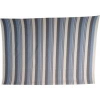 Tenture Kérala bleu/blanc/gris