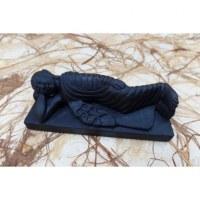 Bouddha parinirvana en pierre noire
