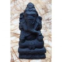Statuette en pierre reconstituée Ganesh noir