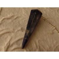 Pendule conique tourmaline noire