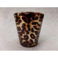 Photophore verre léopard