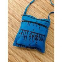 Sac passeport bleu clair sanscrit