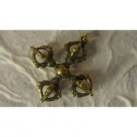 Miniature double vajra doré
