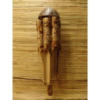 Carillon bambou coco fleurs blanches